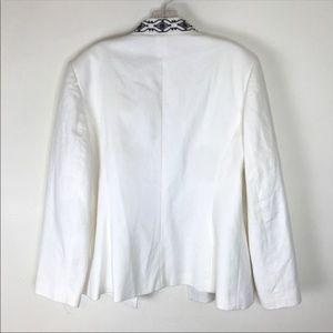 Talbots Jackets & Coats - TALBOTS Beaded Blazer Jacket Coat Pockets White